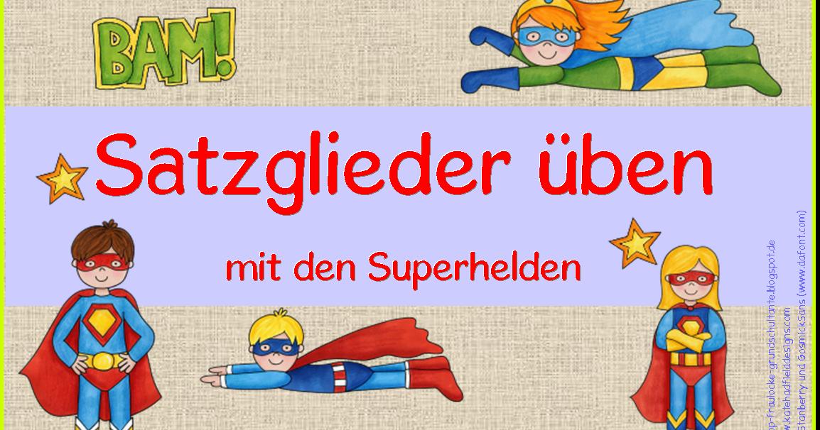 frau locke satzglieder 252ben mit den superhelden