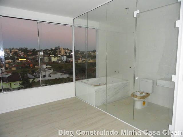 Janela Banheiro Suite : Construindo minha casa clean fachadas com esquadrias de