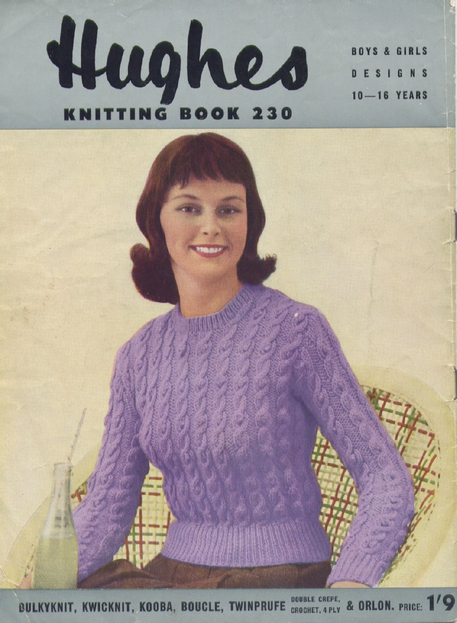 The Vintage Pattern Files: 1950\'s Knitting - Teenage Patterns Hughes ...