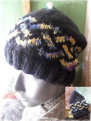 Knit Celtic Knot Hat Pattern : Ajeng Belajar Merajut: Rajut Free Knitting Pattern : Celtic Knot Hat