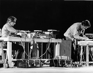 Shiraz Art Festival: David Tudor (left) and John Cage performing at the 1971 festival.(Photo courtesy Cunningham Dance Foundation archive)