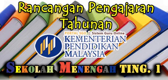 RPT Rancangan Pengajaran Tahunan Tingkatan 1 Semua Subjek