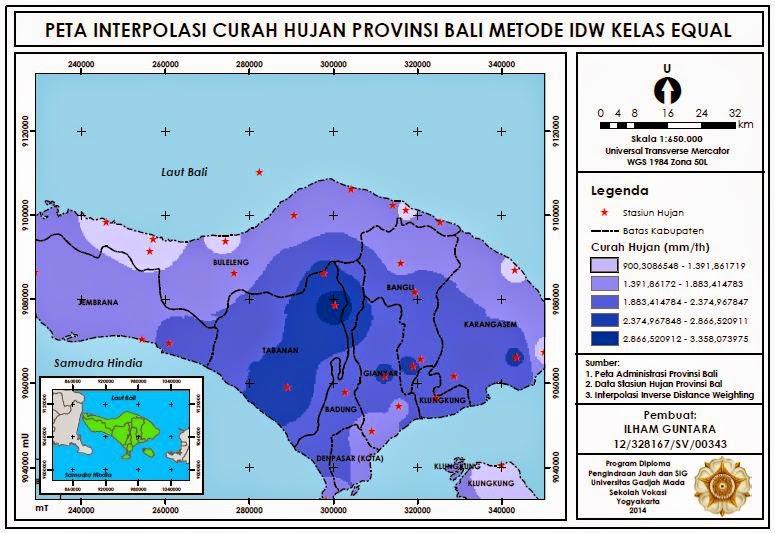 Peta Ekstrapolasi Curah Hujan Provinsi Bali www.guntara.com