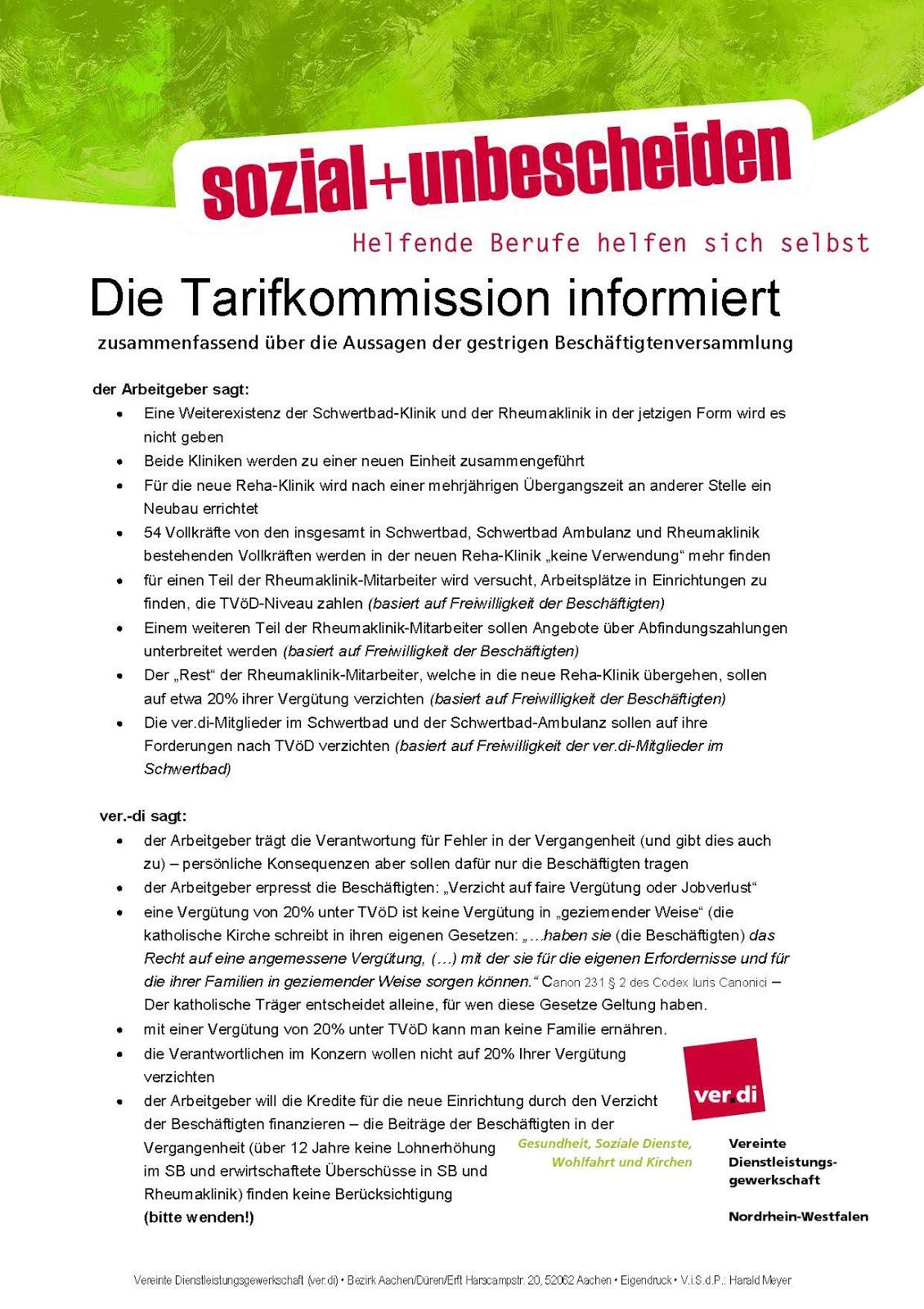 Caritas-Verdi: Schwertbad-Klinik/Rheumaklinik Aachen