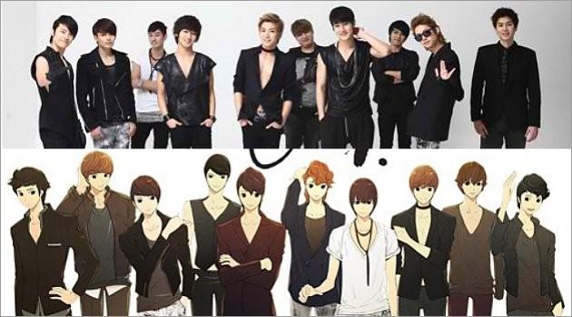 Beginilah Kalau Super Junior Jadi Kartun