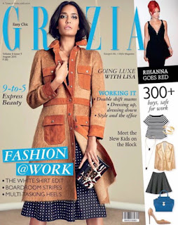 Lisa Hydon in Chic fashion wardrobes by Louis Vuitton for Grazia India August 2015