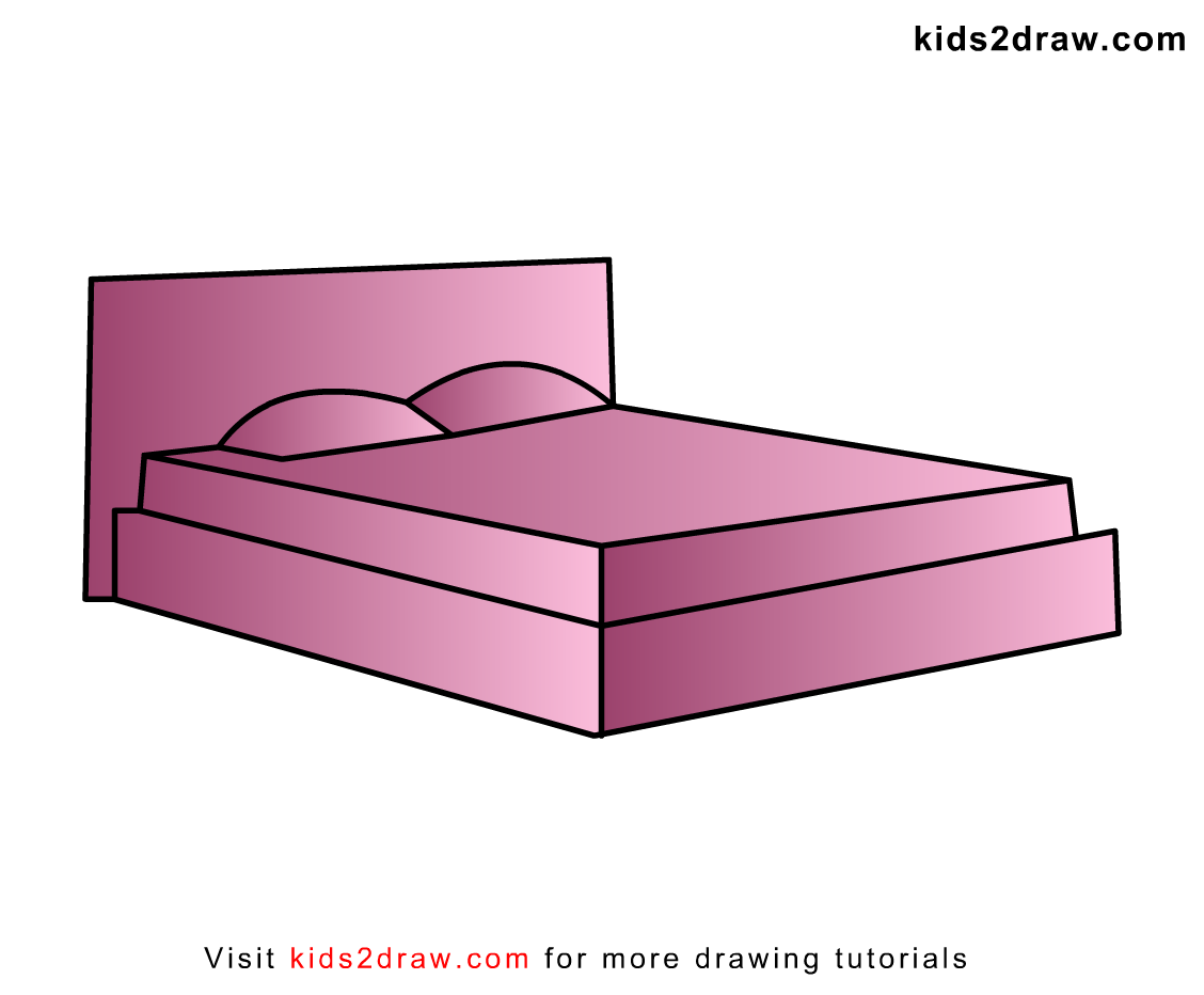 gallery for bed drawing for kids