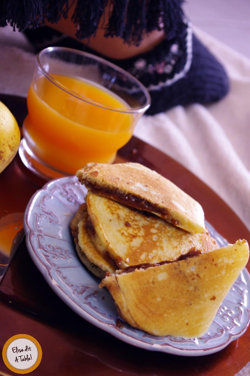 recette Pancakes fourrés au chocolat