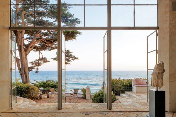Encasement doors open to show off the ocean view