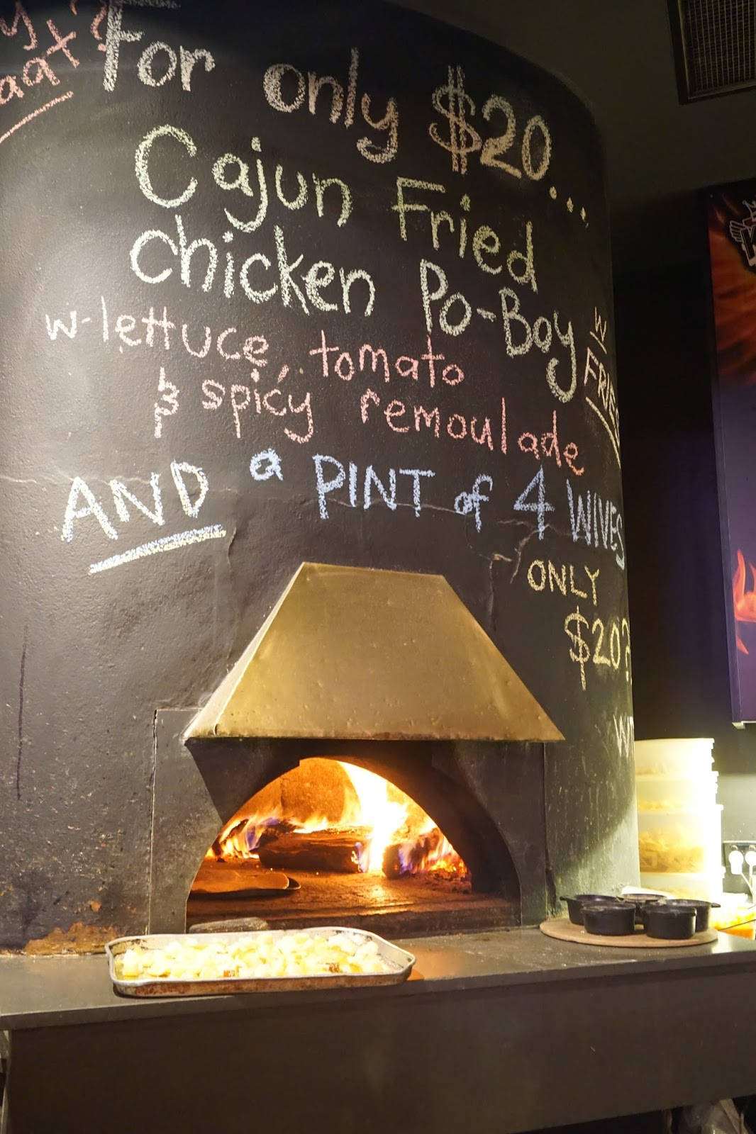 Wood fire oven at The Curious Squire, North Adelaide