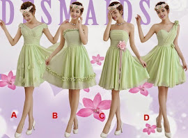 Luxury 4-Design Moss Green Bridesmaids Dress