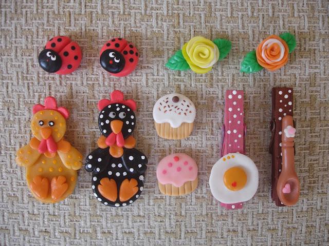 Ímã de geladeira em biscuit