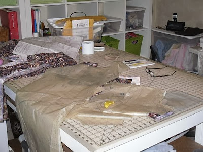 Because if I don't, my sewing table is going to look like this all