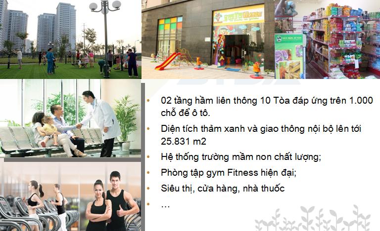 Tiện ích và dịch vụ Chung cư PARK VIEW RESIDENCE Dương Nội
