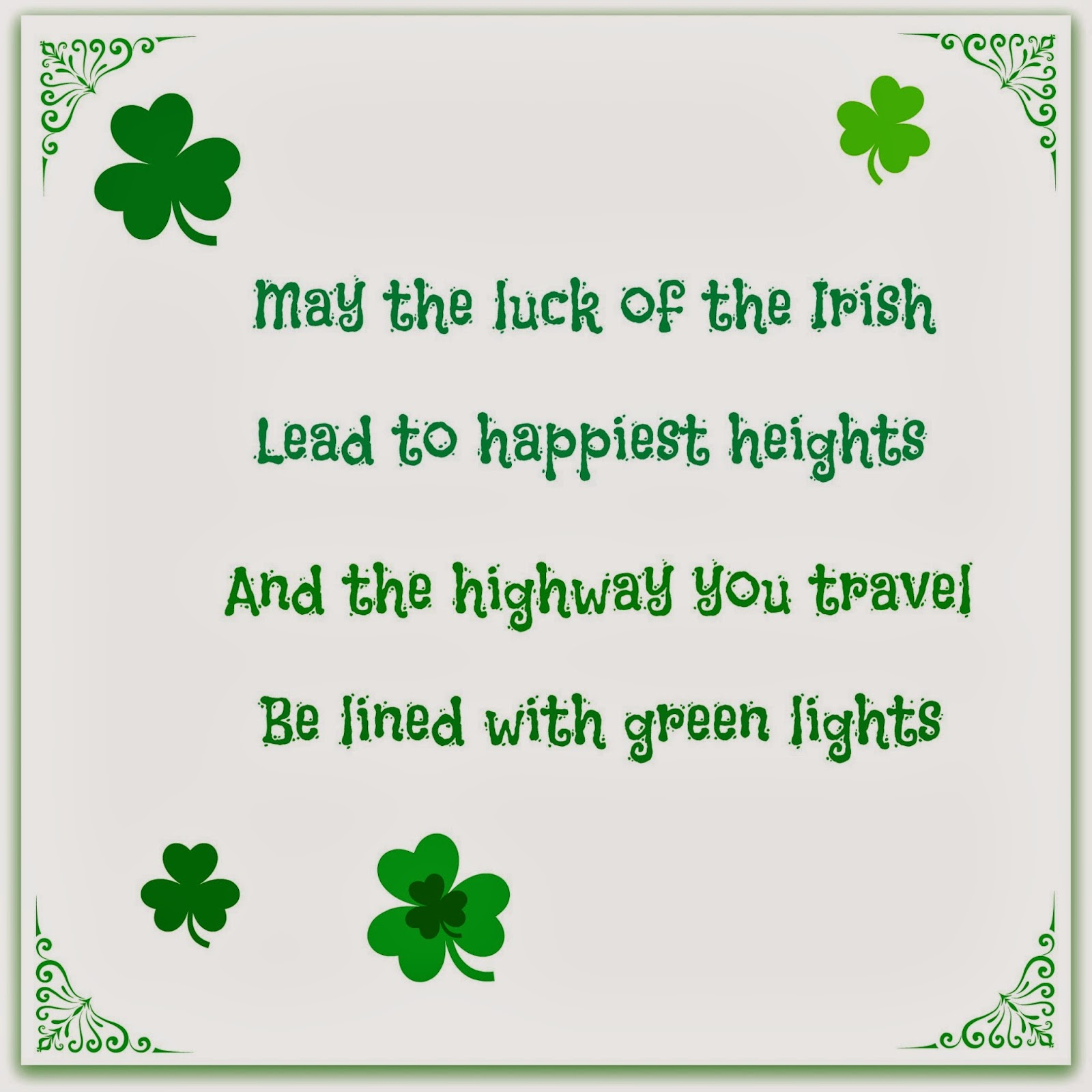 image regarding Printable Irish Blessing known as Crank out it simple crafts: Free of charge Printable Irish blessing