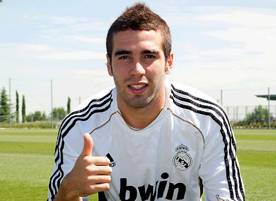 Carvajal Real Madrid Castilla player on the field