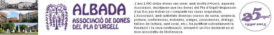 """ALBADA """"Associació de Dones del Pla d'Urgell"""""""