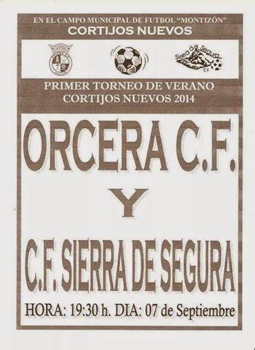 I torneo de verano cortijos nuevos orcera cf vs sierra de for Piscina municipal de orcera