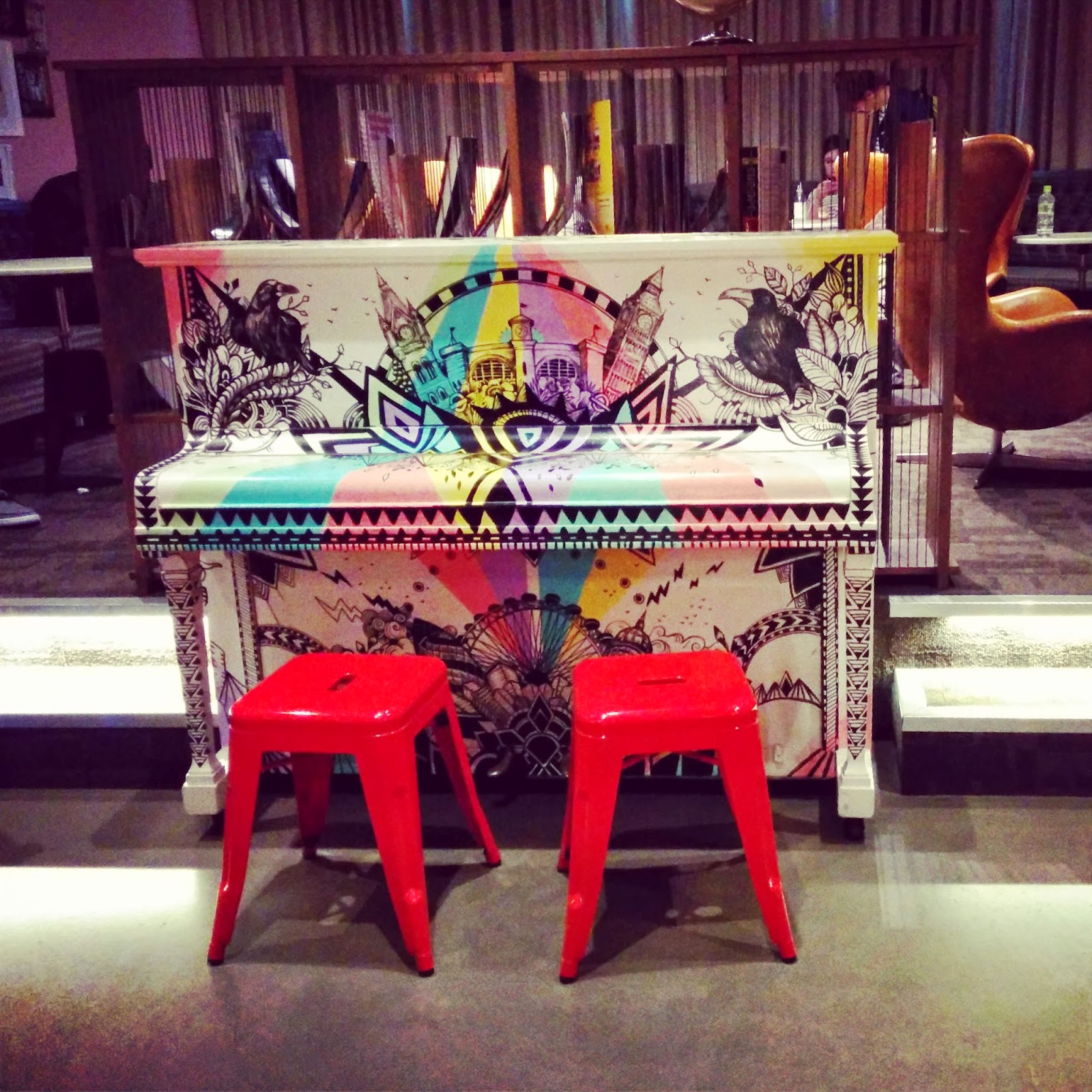 Piano near the bar
