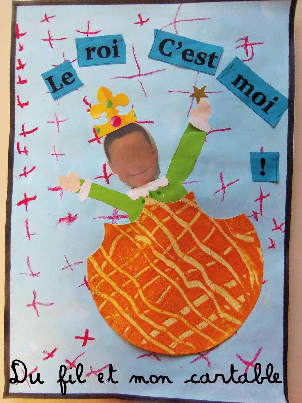 Du fil et mon cartable rois reines et galette for Decoration galette des rois