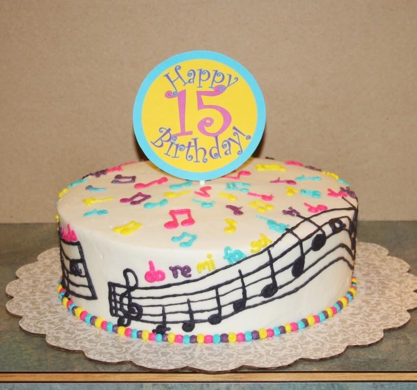 Party Cakes Music Birthday Cake