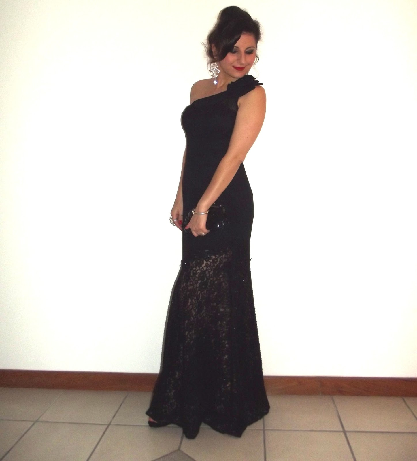 Diário do Coque Frouxo  Vestido Longo (Renda + Transparência)... 12f6a9176c94d