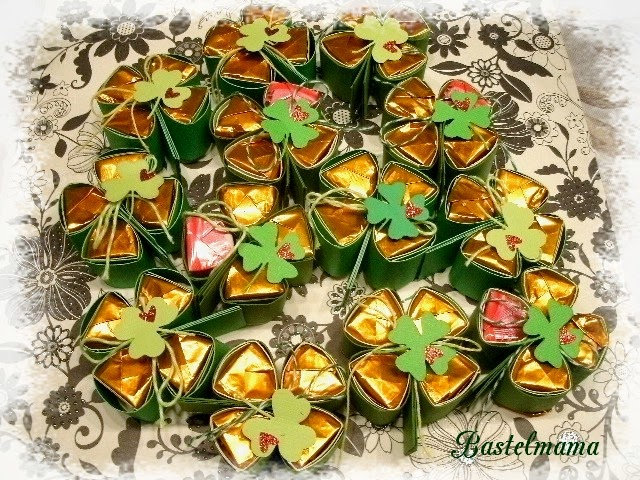 PApierbasteln, Glück, Kleeblatt, Ferrero Küsschen