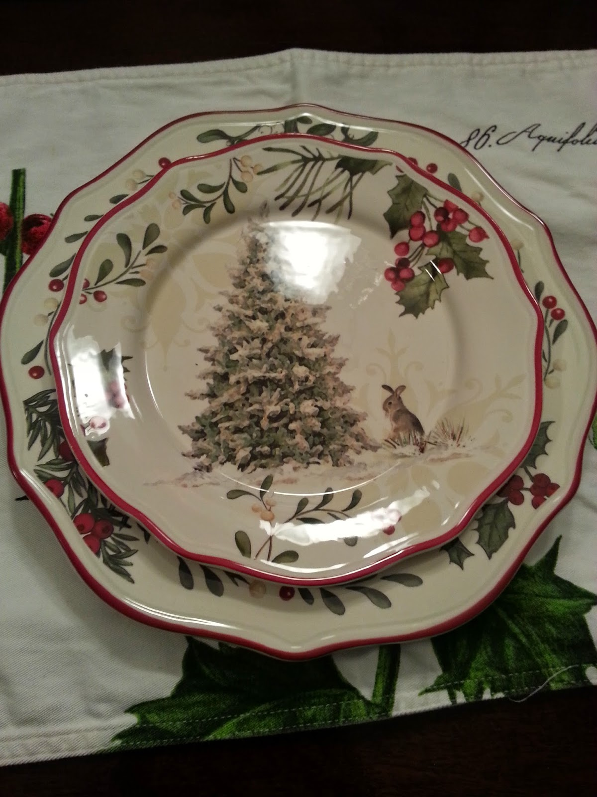 A Home For Elegance Christmas Plates