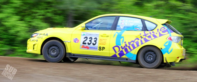 Paul Eklund's Primitive Racing Subaru Impreza WRX STI at 2014 Oregon Trail Rally on day 3