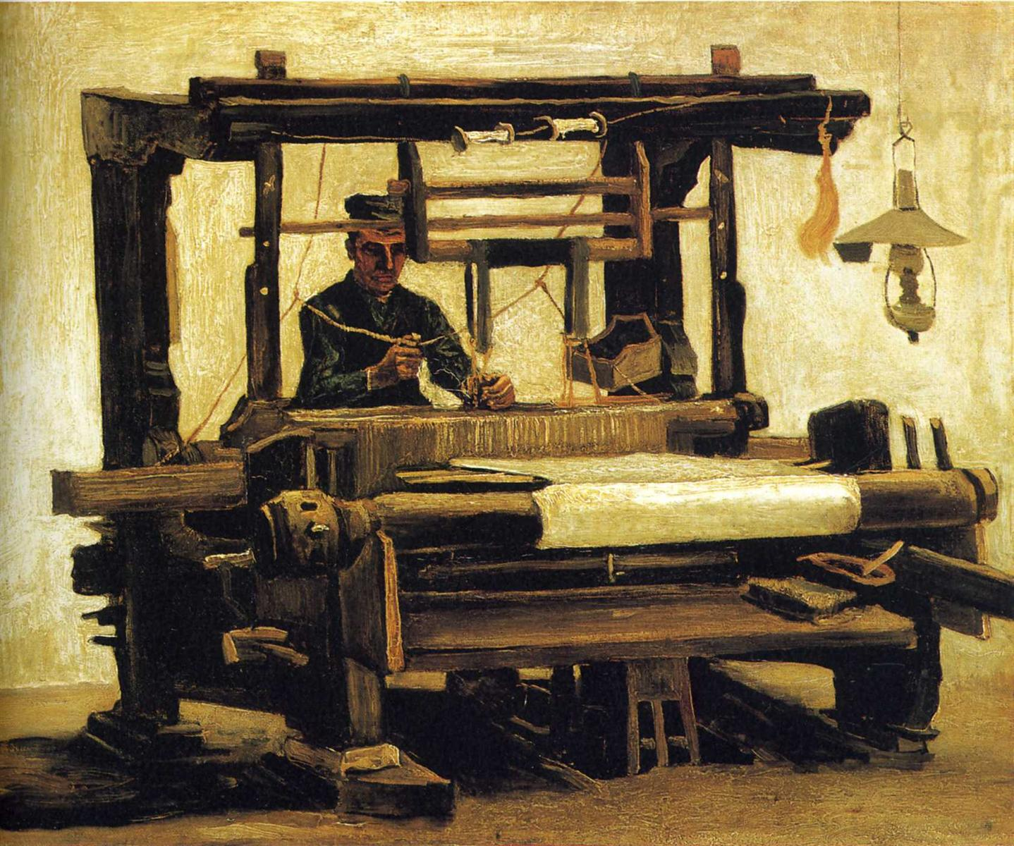 Weaver, Seen From the Front by Vincent van Gogh