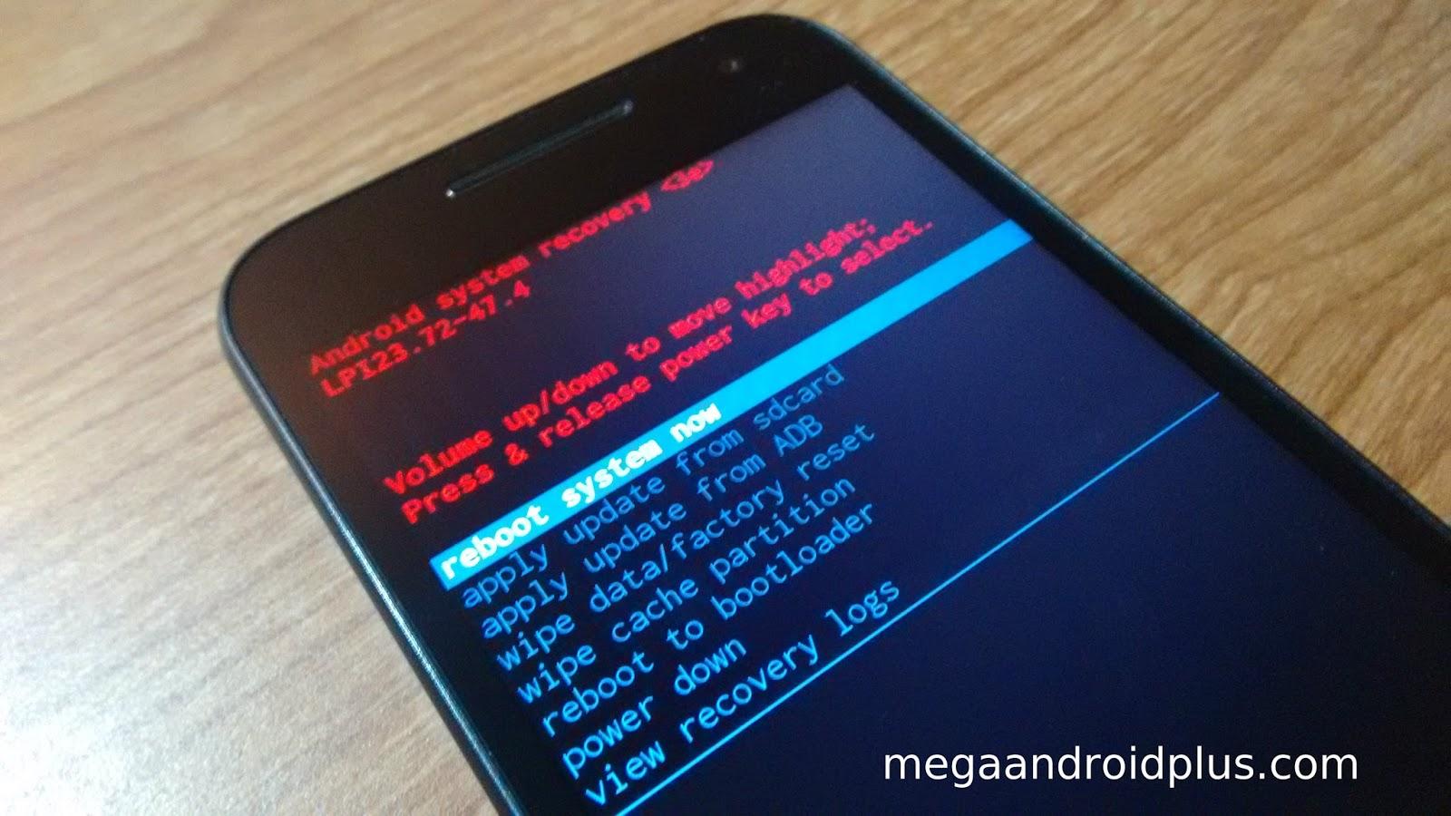 Motorola Moto M - hard reset, сброс настроек до заводских Your 83