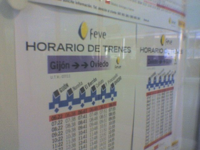Movilidad sostenible asturiana feve no apuesta por su for Horario de trenes feve