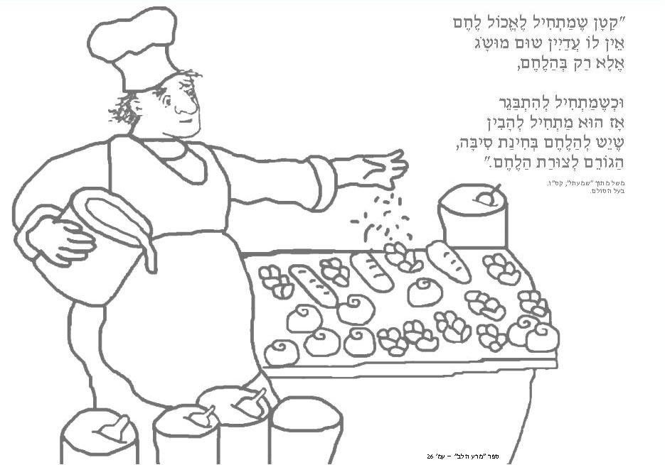 раскраска хлеб печь