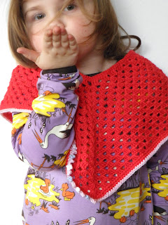Crochet cape on whimsical Wednesdays!