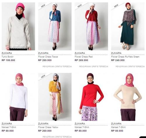 Koleksi Model Busana Muslim Zumara Perempuan Terbaru