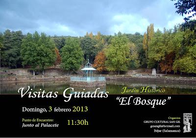 Cartel anunciador de la svisitas guiadas a EL Bosque