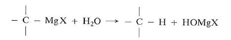 obtencion de alcanos por reaccion de hidrolisis de un reactivo Grignard