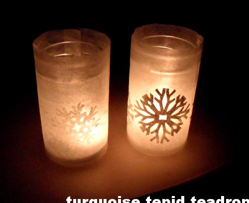 Basteln Mit Alten Büchern: Windlicht Mit Schneeflocken // Crafts With Old  Books: Snowflake Votive Candles