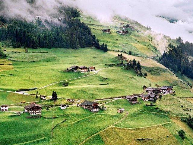 A famosa região do Tirol na parte austríaca.