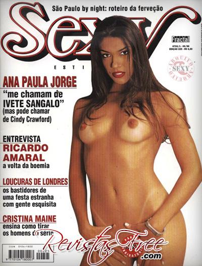 Revista Sexy Setembro 1998 - Ana Paula Jorge