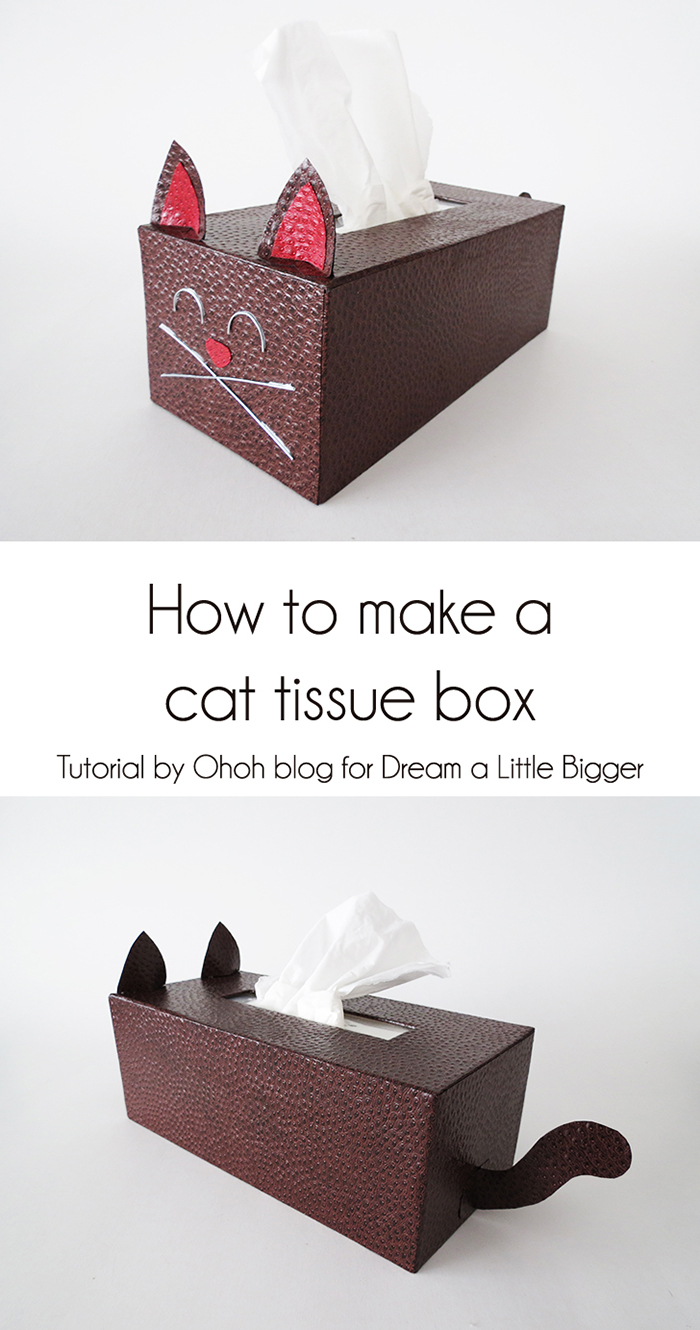How to make a cat tissue box cover ohoh blog for Tissue box cover craft