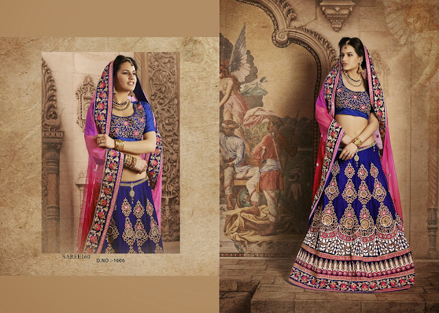 New Arrival Lengha Saree,Heavy Embroidery Lengha Saree,Buy Online Lengha Saree
