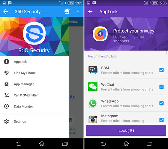 360 mobile security apk gratis