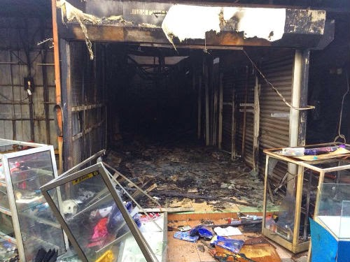 7 Gambar Keadaan UpTown Shah Alam Selepas Kebakaran