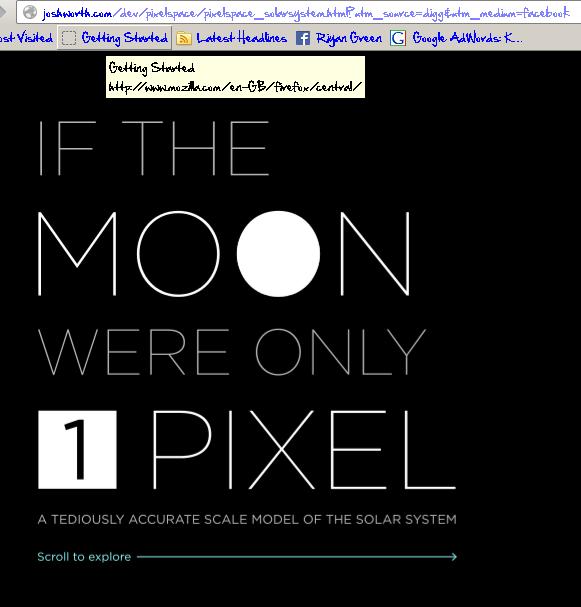 Jika bulan hanya 1 pixel