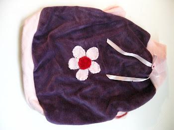 Our light weight velour flower dress