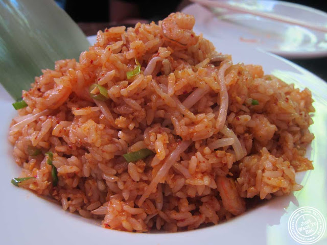 image of fried rice at Bann Korean restaurant in NYC, New York