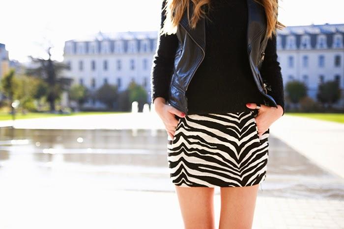 zebra skirt animal print