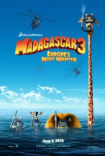 Film poster for Madagascar 3: Europe's Most Wanted http://disneyjuniorblog.blogspot.com/2012/12/madagascar-3-europes-most-wanted-2012.html