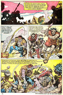 Frankenstein v2 #4 marvel comic book page art by Mike Ploog